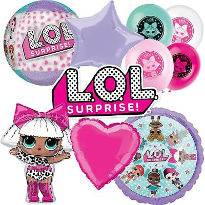 LOL Surprise Foil Balloon Party Decorations Latex Giant Air Helium Girls Dolls