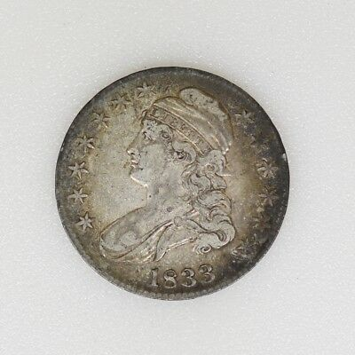 1833 XF Condition Capped Bust Half Dollar Nice Type Coin- I-14823 F