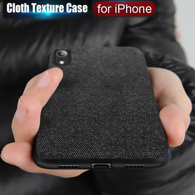 Luxury Cloth Shockproof case Slim Soft Protective Cover For iPhone XS Max XR X 8