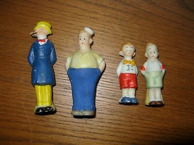 Two Antique Ceramic Salt & Pepper Mutt & Jeff  Comic Figures