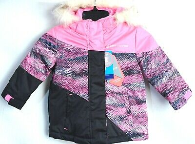 Free Country Girls Radiance Dobby Boarder Winter Coat Pink Swizzle Size 2T 3T