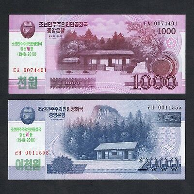 2017 ASIA 5,000 5000 WIN P-NEW UNC /> MANGYONGDAE COMM 2013