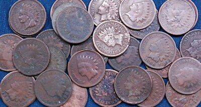 100 Indian Head Pennies - Low Grade / Cull
