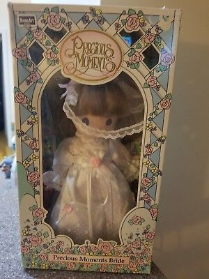 "1992 Rose Art PRECIOUS MOMENTS BRIDE 10"" Vinyl Doll #11000 NIB"