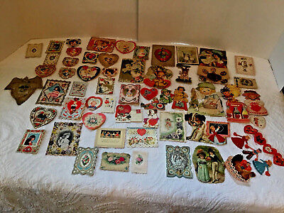 Vintage Valentines Day Cards Lot of  59  Raphael Tuck Whitney Germany USA