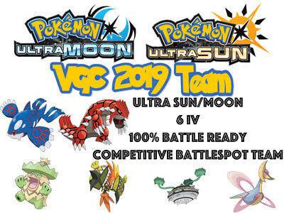 Pokemon Ultra Sun And Moon Vgc 19 2019 6iv Battlespot Groudon Kyogre