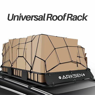 """64"""" Universal Roof Rack Cargo Carrier Extension Basket Luggage with Cargo Net"""