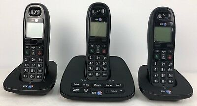 BT 1500 Triple Cordless Phone With Built In Answer Machine Trio 3