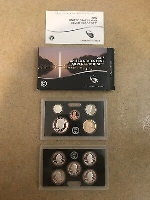2017 United States Mint Silver Proof Set with Box and COA