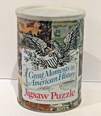 "Vintage 1969 Humble Oil ""Great Moments In American History"" Puzzle Paul Revere"