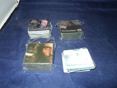 The Lord Of The Rings 3D Action Flipz Trading Cards around 100 in metal case