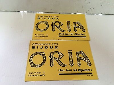 Lot De 2 Buvards Bijoux Oria