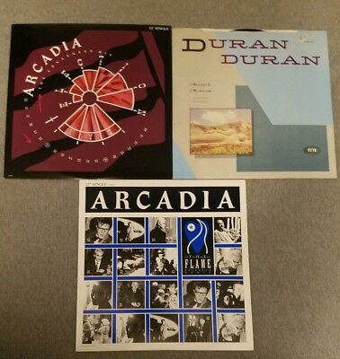 "Duran Duran 12"" Single Lot: Rio! Arcadia! The Flame! Election Day! Rare Vinyl!"