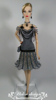 "OOAK outfit for Fashion Royalty FR2 and similar 12""dolls from HELEN DESIGN"