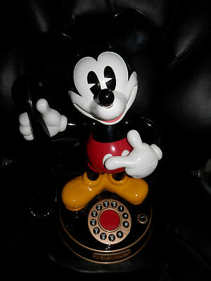 Disney Mickey Mouse Animated Talking Telephone Phone TeleMania vintage 1997