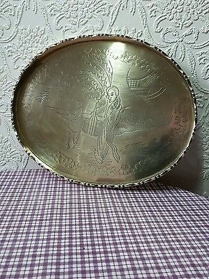 Old Chinese brass tea tray very good condition