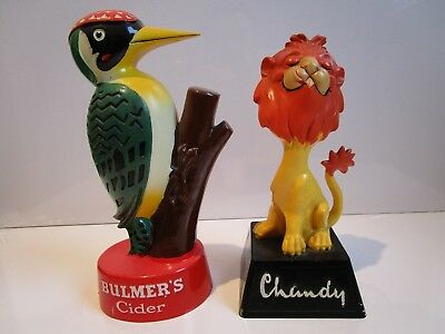 Bulmer's Cider Woodpecker, and Chandy Lion bar collectables