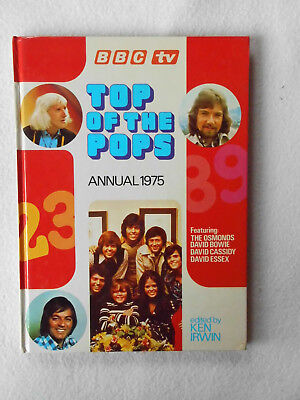 Top Of The Pops Annual 1975 Edited by Ken Irwin (HB) Music, BBC TV
