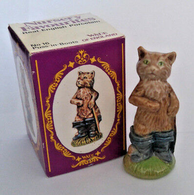 WADE 1970s Large Figure PUSS IN BOOTS NURSERY FAVOURITE Set Four 1976 *RARE*+BOX