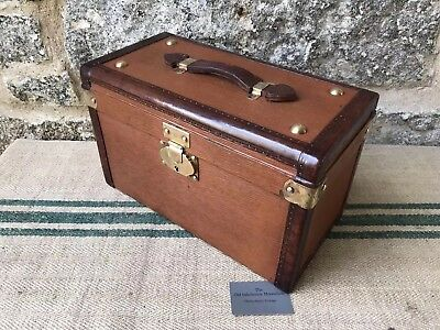 A Small Vintage French Tan Trunk
