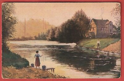 Vintage Art Post Card - Mailick, Morgenstrimmung