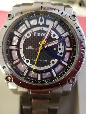 BULOVA PRECISIONIST Carbon Fiber Dial Diver Watch – Stainless Steel