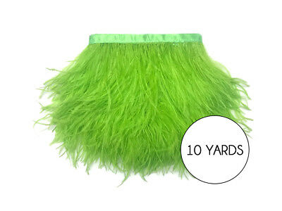 10 Yards - Lime Green Ostrich Fringe Trim Wholesale Feather Prom Dress Costume