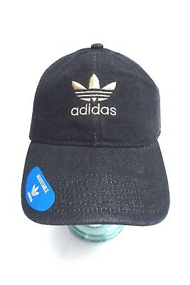 ADIDAS Unisex Relaxed Cap* Black Denim~Gold Adjustable Fit New