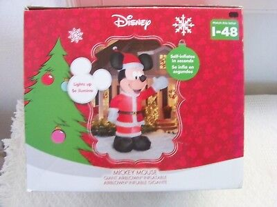 mickey mouse christmas inflatable 11 ft tall yard decoration new in box - Mickey Mouse Christmas Lawn Decorations