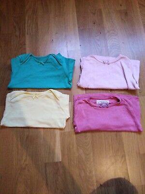 Baby Girl Long Sleeve Set of 4 Tops Size 6-9 Months
