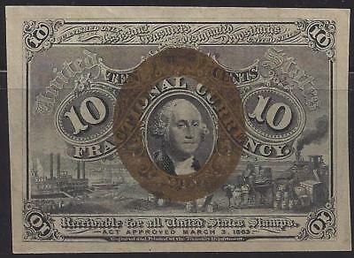 "1863 Civil War 10c Fractional Currency - ""Receivable for All US Stamps"" Treasury"