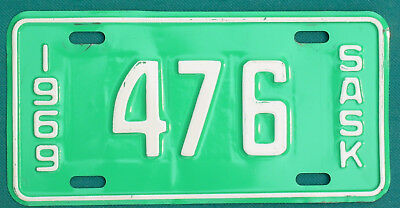 1969 Saskatchewan  MOTORCYCLE  license plate