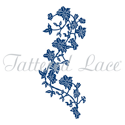 STEPHANIE WEIGHTMAN Tattered Lace Dies TRAILING CLEMATIS 442668 7.1cm x 16.9cm.
