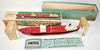 1966 Hess Voyager Toy Tanker w/ Box & Instructions • Marx