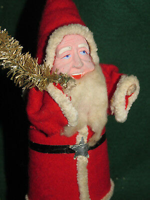 "Vintage Early Santa Claus Figure - Fabulous 9"" Tall! - 1940's"