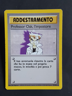 AD. Professor Oak, l'impostore  73/102 - RARA* – Set Base (ita) - (sb1546)