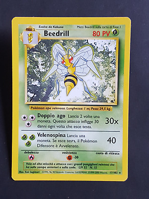 Beedrill  17/102 - RARA* – Set Base (ita) - (sb1549)