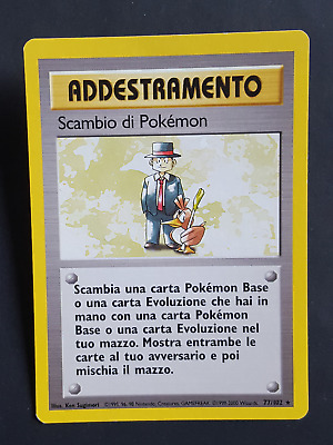 AD. Scambio di Pokemon  77/102 - RARA* – Set Base (ita) - (sb1556)
