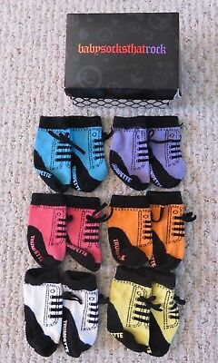 "Trumpette Infant ""Baby Socks That Rock"" 6 Pairs Colors Unisex Gift Set Sneakers"