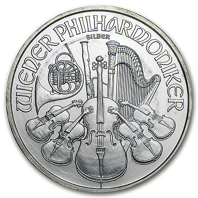 2008 Austria 1 oz Silver Philharmonic BU (Special Mint Sealed) - SKU #98890