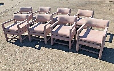 Lot of 8 Shenandoah Furniture Baughman Mid-Century Style Dining Chairs
