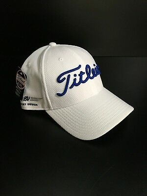 Titleist Vokey BV Custom Wedge Logo Hat Fitted Hat Cap White Blue XL XXL NEW c5cd853ccb4