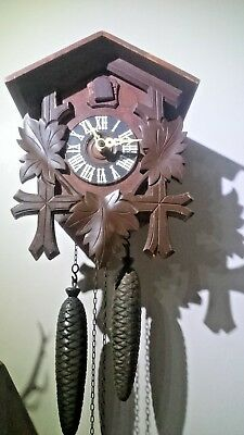 Vintage German 8 day Cuckoo Wall Clock spares or repairs