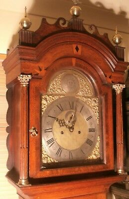 "Antique Oak  Brass Dial "" London ""  Automation""  Longcase / Grandfather Clock"