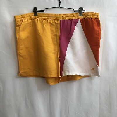 Hobie Mens Large Vintage 80s Surf Surfwear Swim Trunks Shorts