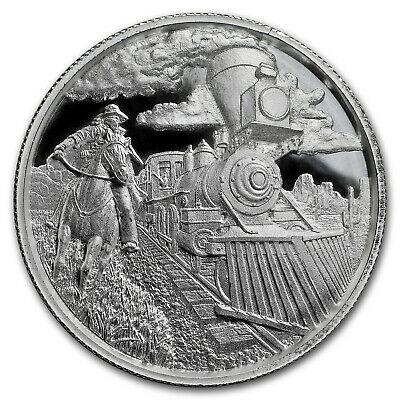 2 oz Silver UHR Round - Lawless Series: Train Robber - SKU#176597