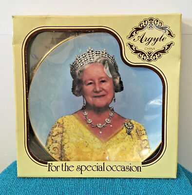Queen Mother 90th Birthday Commemorative China Plate Vintage 1990 With Box