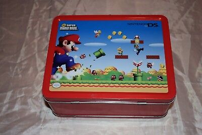 2007 NINTENDO DS LITE SUPER MARIO BROS Metal Lunchbox
