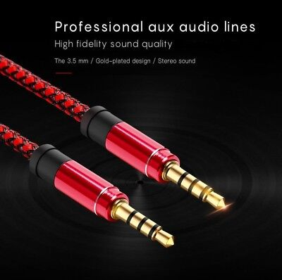 AUX cable 3.5mm jack Male to Male 1.5m~5ft Stereo audio for iPhone, Android...