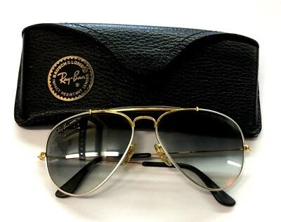 Vintage Bausch & Lomb Ray-Ban Aviator Style Sunglasses With Case